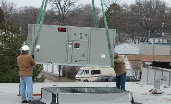 Premier installing commercial equipment